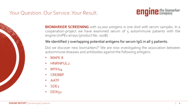 engine screening report presentation