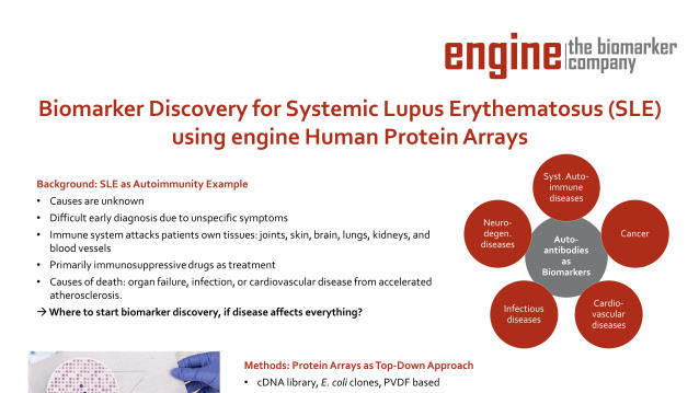 Poster of SLE Biomarker Discovery with engine protein arrays